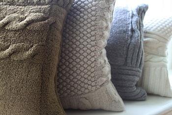 Chunky knit cushion