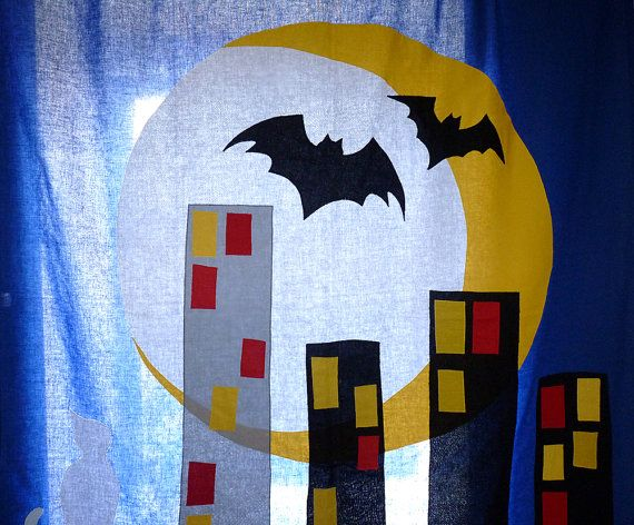 The CITY - CURTAIN for Kids and teenagers / children curtain / nursery art / Children wall... $130