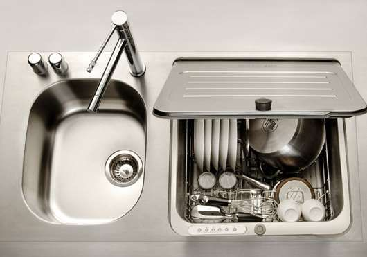 KitchenAid Briva Dishwasher for our tiny house or canal boat.