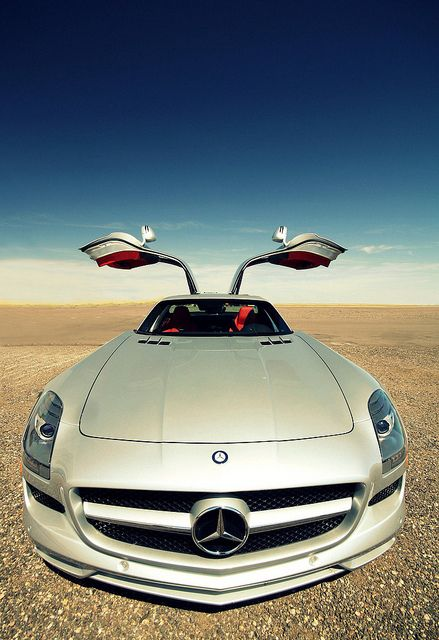 Mercedes-Benz SLS Beautiful Desert Shot