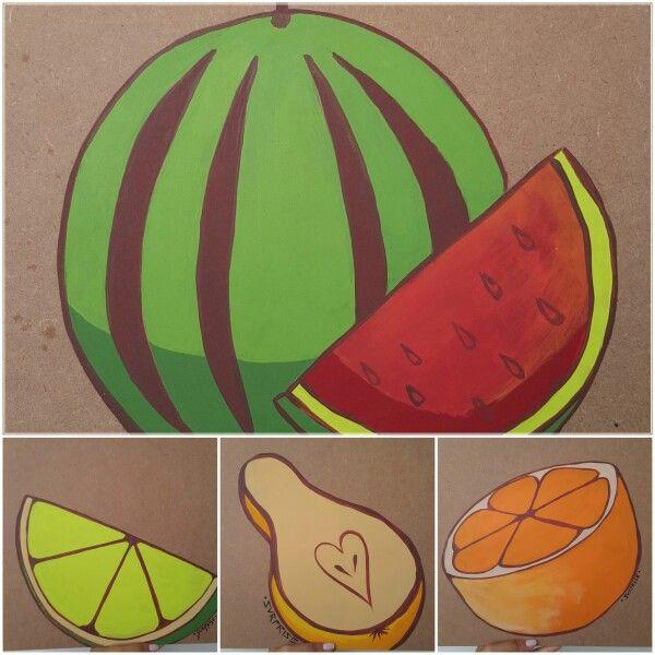 Bandejas pintadas en country para desayunos