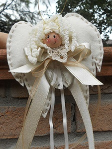 Cute folk art angel doll.