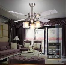 Ретро столовая вентилятор свет потолочный вентилятор Американский гостиной минималистский современный спальня деревянный лист вентиляторы дистанционного управления 48 inch
