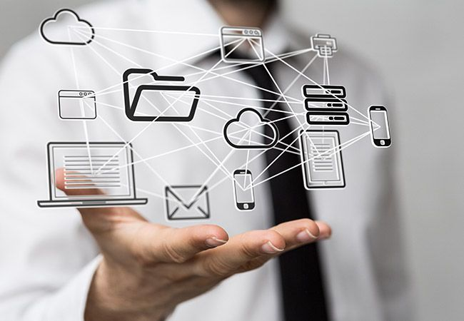The Use Of It Information Technology Enables Businesses To Plan Manage Store And Track Vital Inf Information Technology Technology Solutions Computer Photo