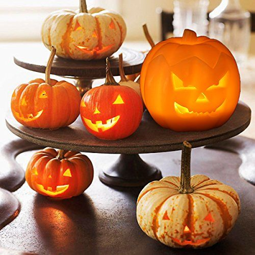 Jack O\u0027 Lantern, Halloween Pumpkin Decor Lantern with Battery
