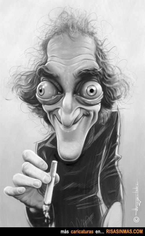 Caricatura de Marty Feldman.