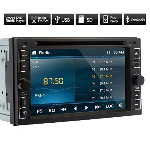 """2016 Newest Double 2 din Universal In Dash Car DVD Auto Radio Receiver Player Bluetooth Video Audio Car Stereo Multimedia with 6.2"""" inch Touch Screen Analog TV SUB AUX Remote Control"""