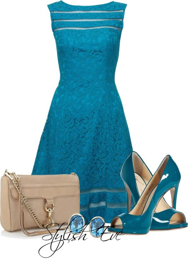 """NADA"" by stylisheve ❤ liked on Polyvore love the dress, but I could never wear…"