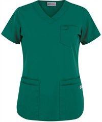 UA Best Buy Scrubs Women's V-Neck Scrub Top, Style #  303 #fashion, #nurses, #huntergreen, #uniformadvantage
