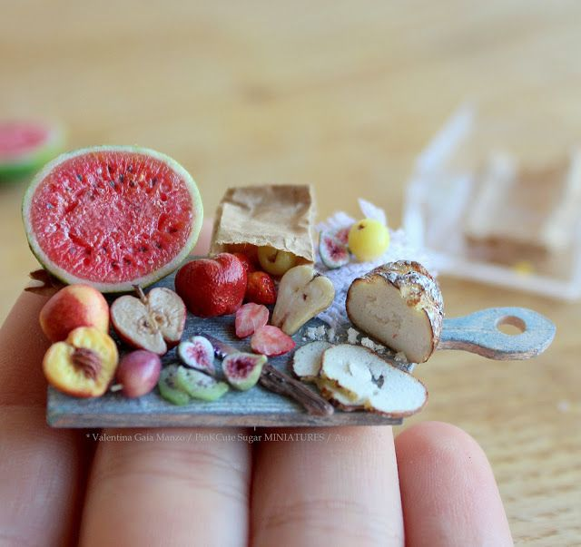 Miniature dollhouse food board