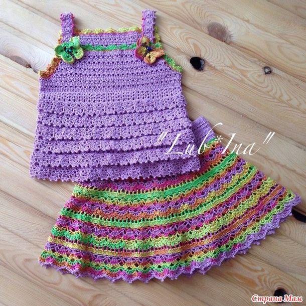 Топики к моим юбочкам - Вязание - Страна Мам