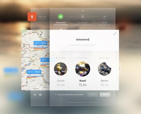 Holiday Website - Selector User Interface by Cosmin Daniel Capitanu #WebsiteInterface #webDesign #website #design #creative  #ui/ux #Ui #ux