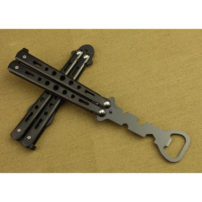 Balisong Butterfly Trainer Style Bottle Opener