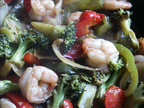 South Beach Diet Shrimp Scampi