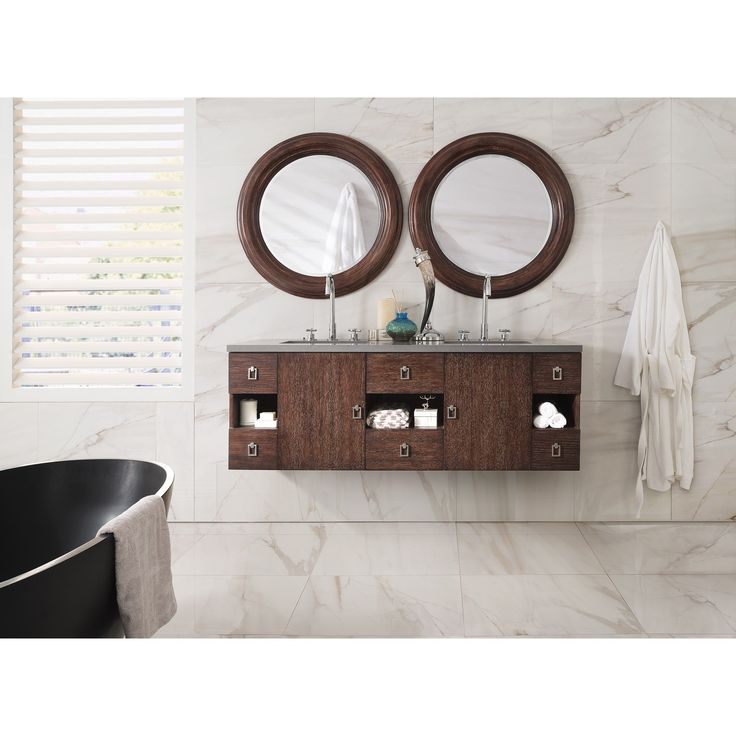 James Martin Furniture Sonoma 60-inch Coffee Floating Double Vanity