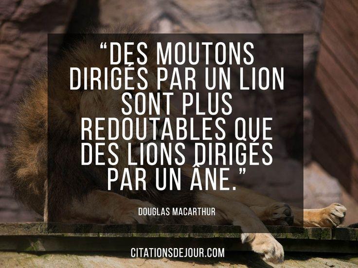 Citation de Douglas Macarthur sur le leadership                                                                                                                                                     Plus