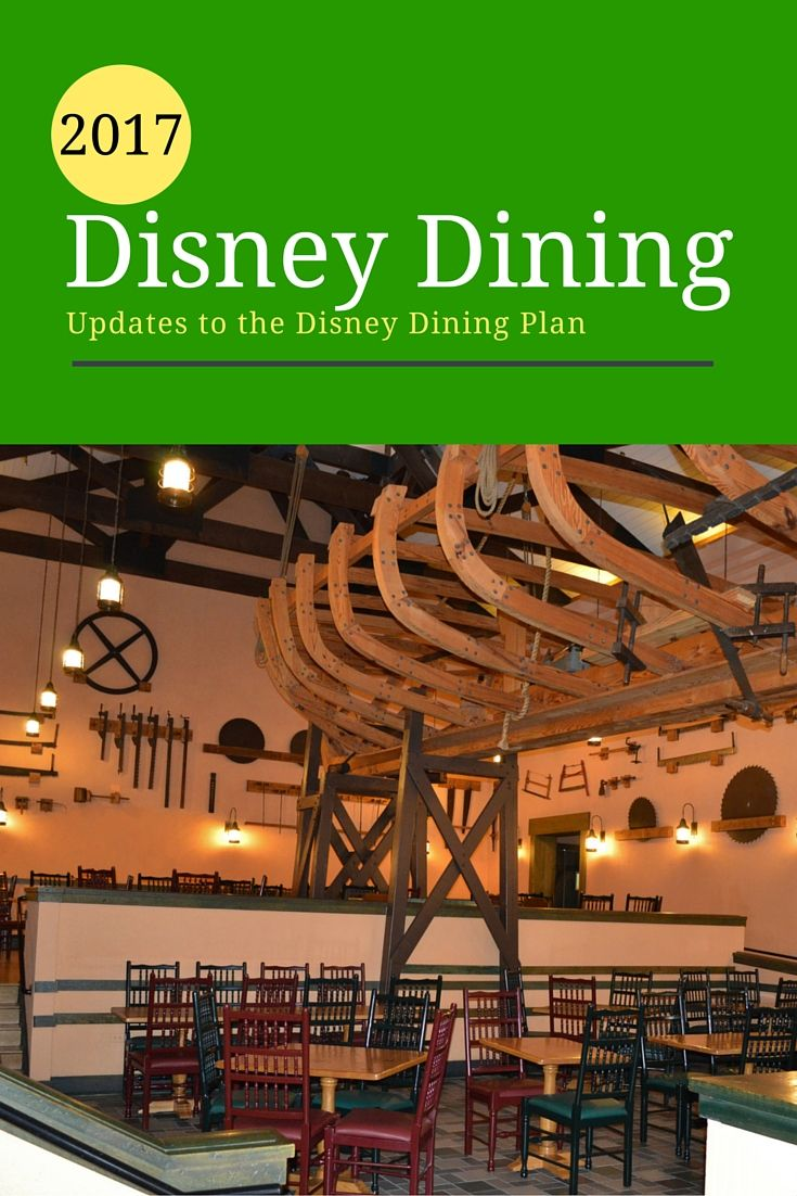 Those planning a trip to Disney World in 2017 & taking part in the Disney Dining plan will notice that there has been some changes. Here are the updates...