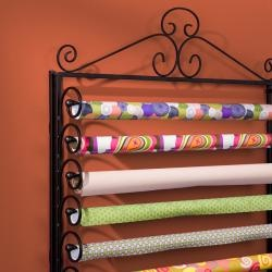 Scroll work design and ample wrapping paper storage highlight this craft storage rack. This rack also converts to a wall mount to fit your needs. Harper Blvd furniture brings homes together with curat