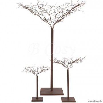"J-Line Moderne bruin metalen boom in bruin metaal 60H <span style=""font-size: 0.01pt;"">Jline-by-Jolipa-62704-boom-sierboom-arbre-deco-arbres-deco-bomen-sierbomen-trees-arbres-deco</span>"