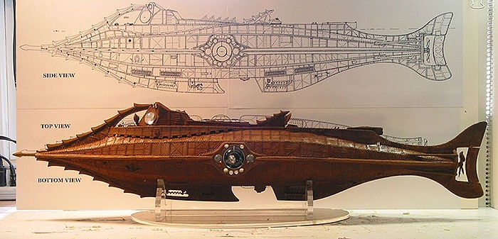 Model of the Nautilus as imagined for Disney's Twenty Thousand Leauges Under the Sea