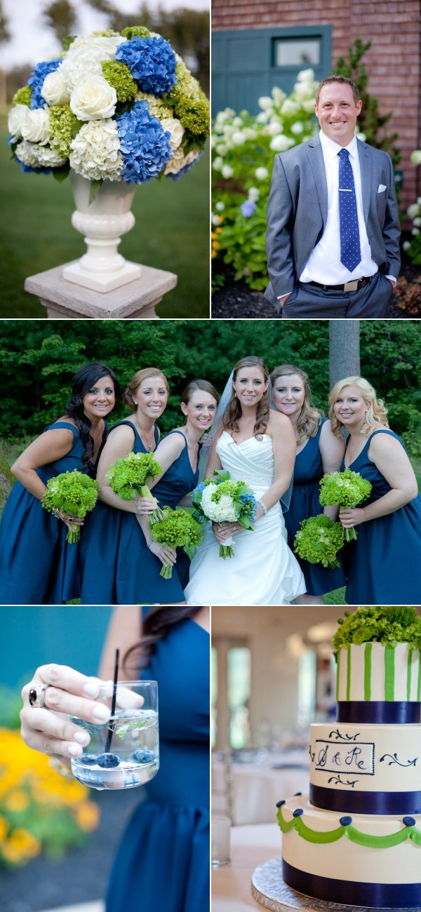 Style Me Pretty Wedding - green and blue