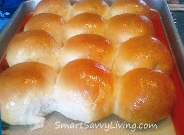 Homemade Yeast Rolls or Bread Recipe, I tried this and it was actually very good.  The dough balls should be a little bit smaller than a lemon.  Worked well!