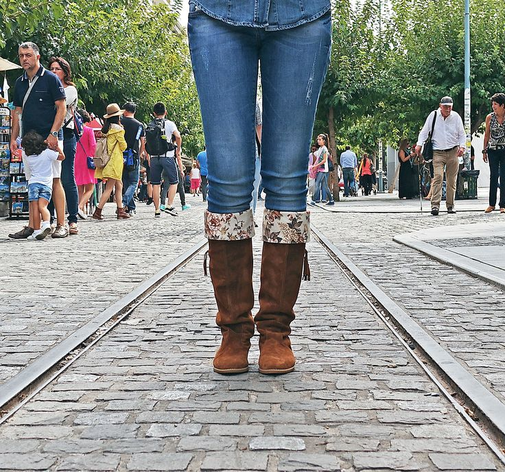 Romantic walks in Athens with a great pair of Workshops!  boots shoes greekdesigners folk boho fashion style womenshoes leather handmade theworkshop