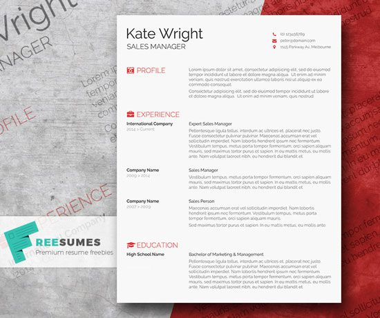 23 best Free CV Resume Templates images on Pinterest Indesign - free eye catching resume templates