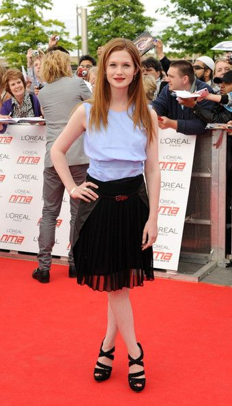Bonnie Wright Red carpet arrivals for the National Movie Awards held at the Wembley Arena.