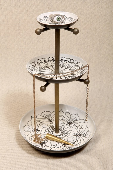 black white three tier jewellery stand jewellery stand