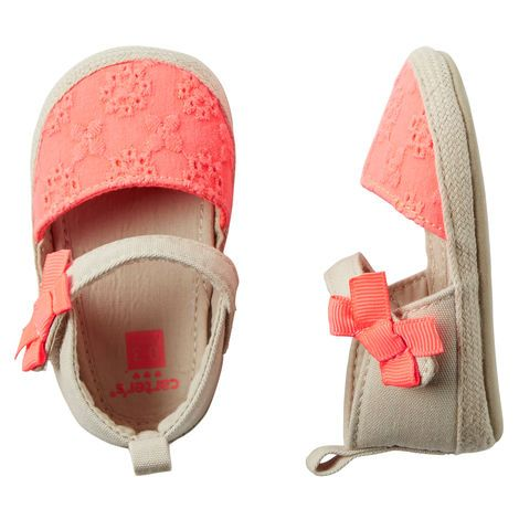 Crocheted Espadrille Crib Shoes