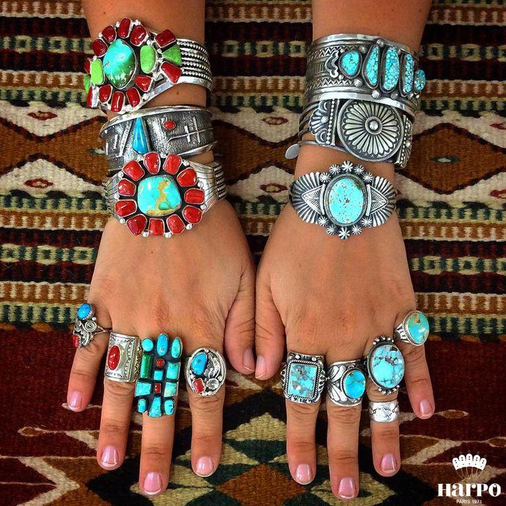 Harpo Bijoux © #nativeamerican #turquoise #jewelr…