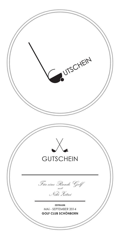 Golf Gutschein on Behance