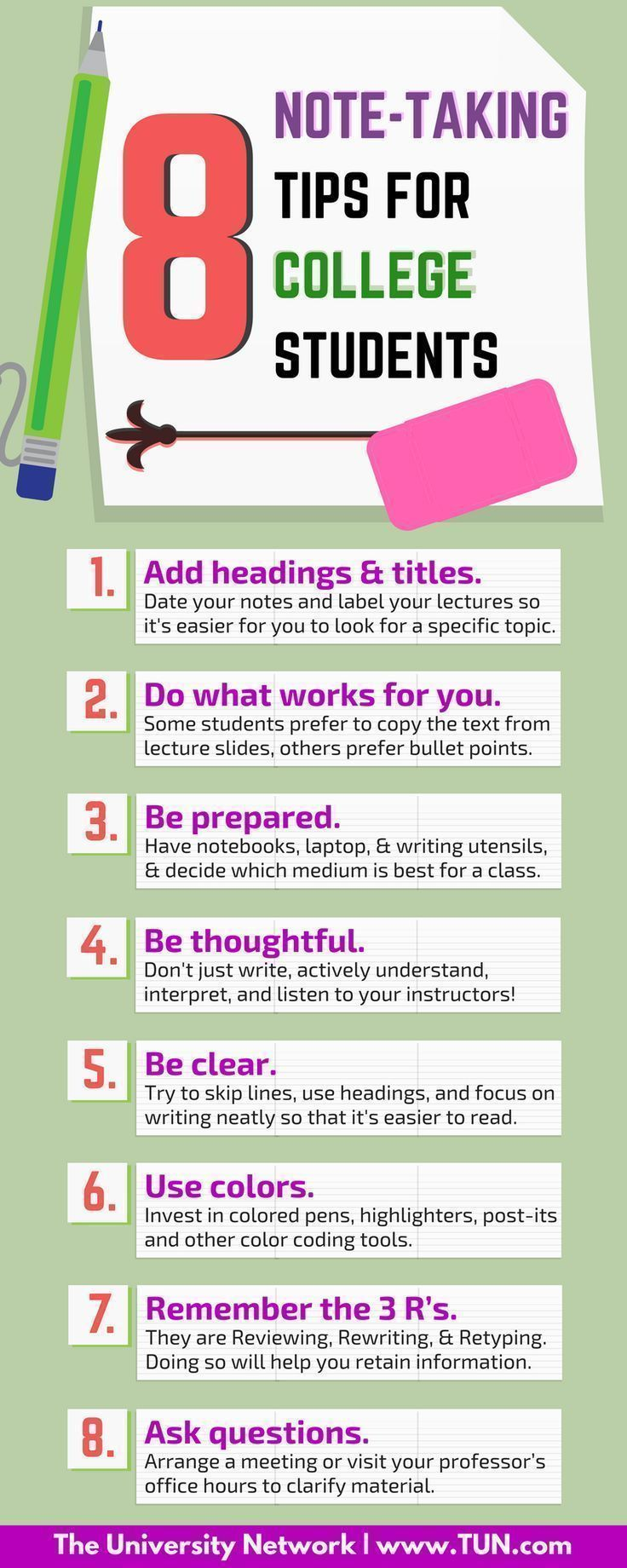 8 Note Taking Tips for College Students Conseils d'étude scolaire  School study tips
