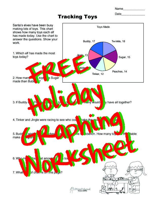 squarehead teachers free holiday graphing worksheet for kids