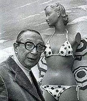 "Louis Réard and his bikini: ""A bikini is not a bikini unless it can be pulled through a wedding ring."""