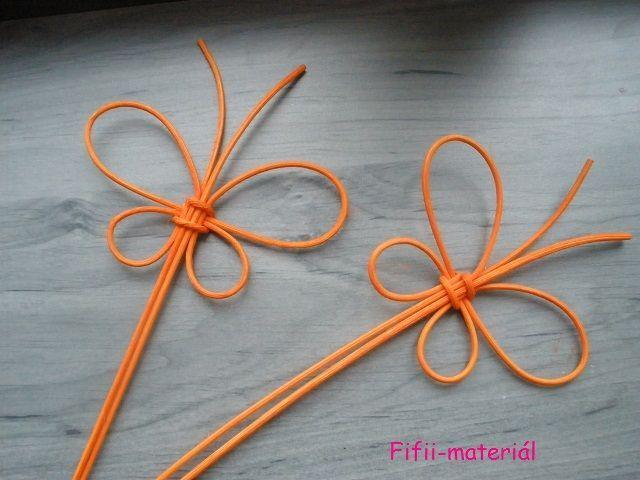 Zápich motýl pedik - oranžová: