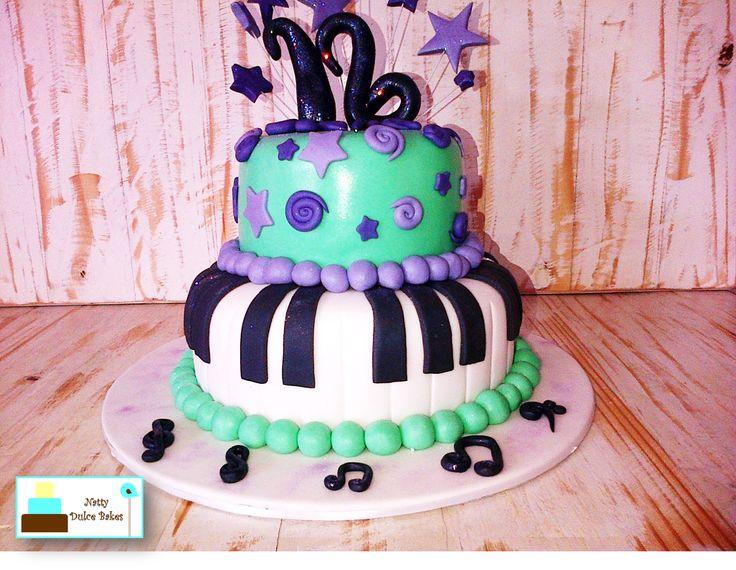Music themed cake.  https://www.facebook.com/nattydulcebakes/?ref=hl