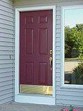 Painting a steel entry door.