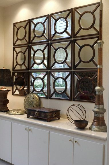 Large Decorative Wall Mirrors | ... mirrors grouped together create a dynamic look for a large wall