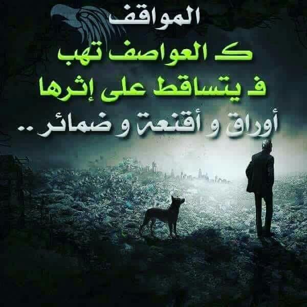 المواقف كالعواصف Picture Quotes Arabic Quotes Quotations