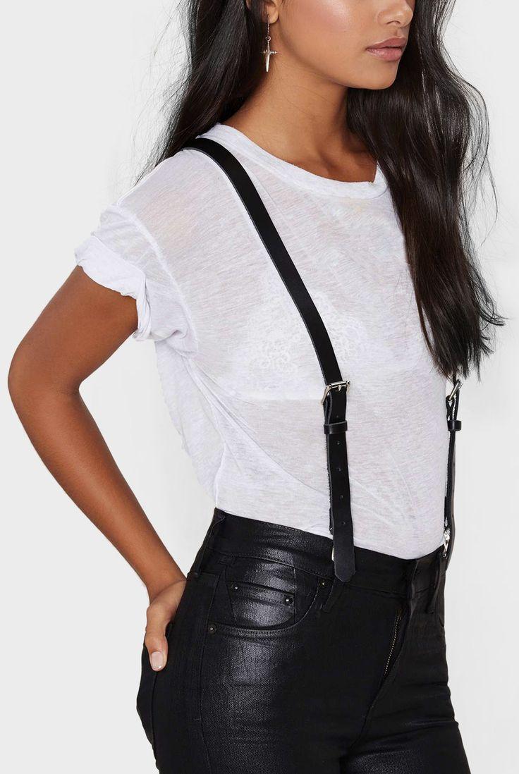 Womens Matte Suspenders - JAKIMAC  - 3