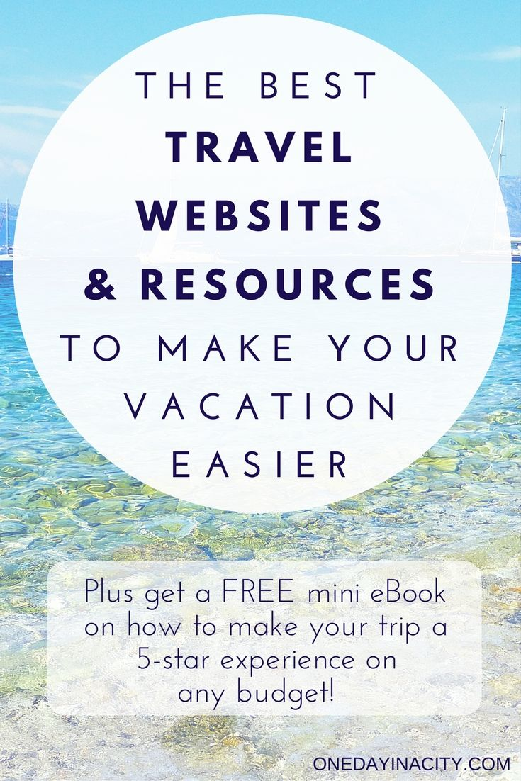 A list of some of the best travel resources to make trip planning and your actual vacation easier and stress-free. Includes websites for hotels, transportation, sight-seeing, and more, plus packing must-haves. Also click through to visit this list and you'll be able to download a free mini eBook on how to create a 5-star travel experience even if you don't have a 5-star budget!