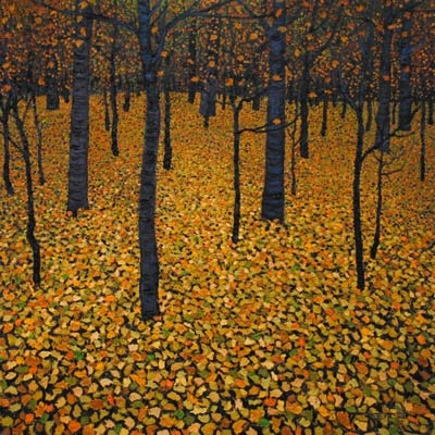 Leaves of Gold - painting by Mark Berens at Crescent Hill Gallery