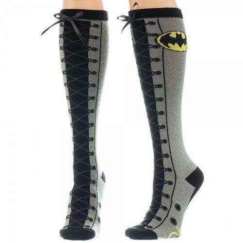 Batman Kunst Geschnürter Kniestrümpfe
