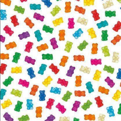 Papier cadeau - Bonbon nounours - Jamina - 3,50 € - Emballage cadeau