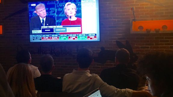 Inside Twitter's office for the first debate live stream