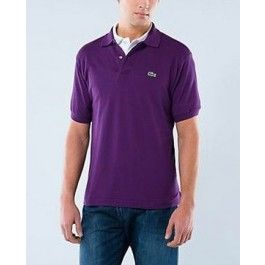 Men Polo Shirt, Short Sleeve, Purple Color