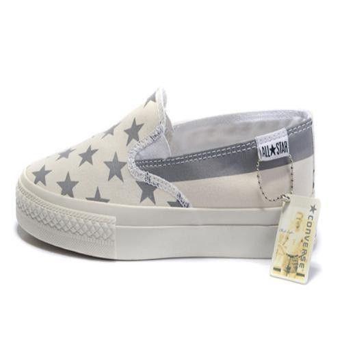 2012 Converse Chuck Taylor All Star Fashion American Flag greggi bianche scarpe basse Top Canvas. €37.87