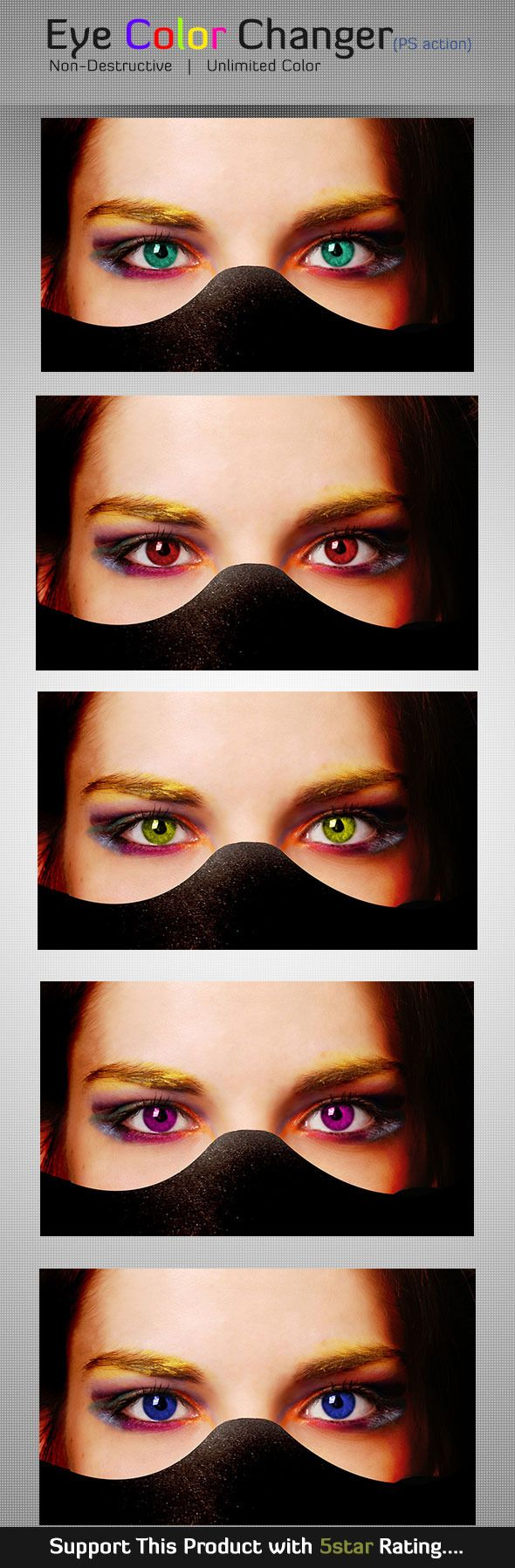 Eye Color Changer Photoshop Action(Custom Color) — Photoshop ATN #custom color #fashionable • Available here → https://graphicriver.net/item/eye-color-changer-photoshop-actioncustom-color/5860712?ref=pxcr